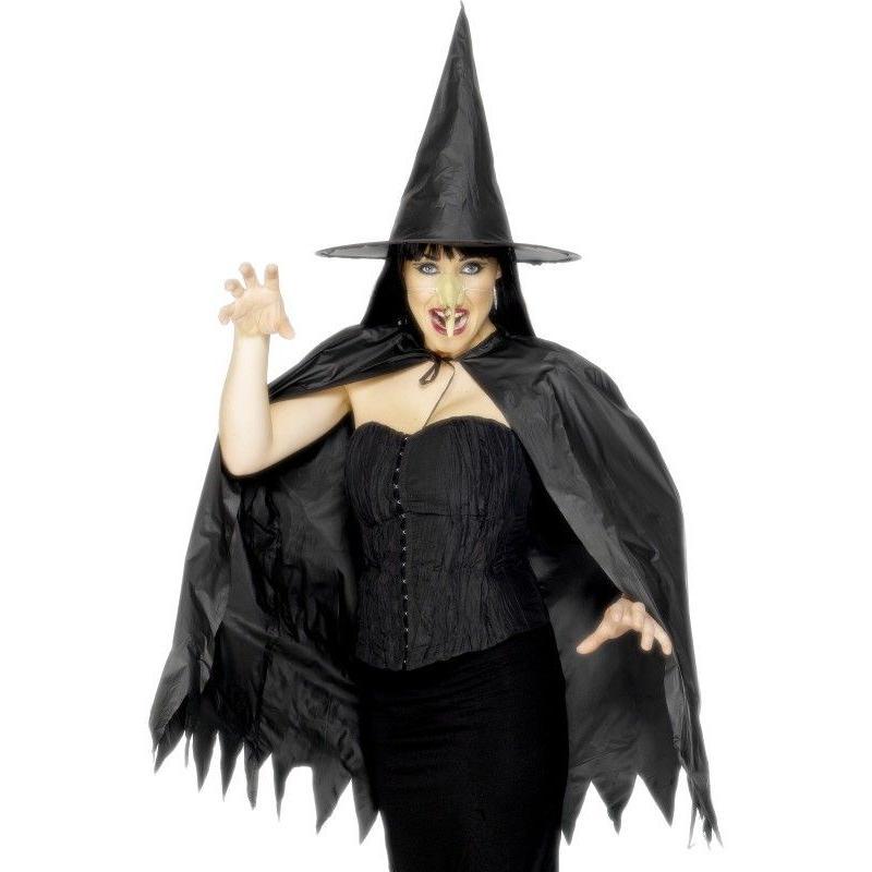 KOSTÝM Čarodejnica s nosom, klobúkom a pelerínou