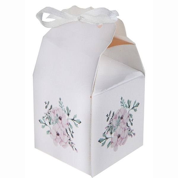 Krabička s kvetmi 4x4x6cm 4ks