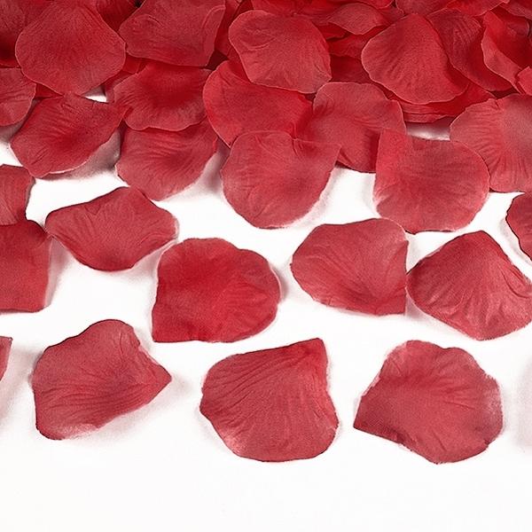 Okvetné lístky ruží textilné červené
