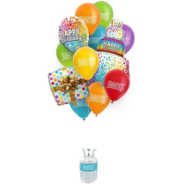 SET HÉLIUM a balóniky Happy Birthday
