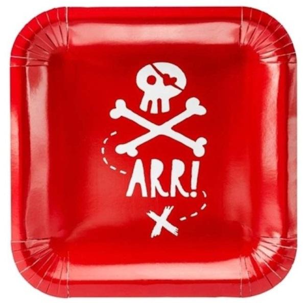 TANIERE Pirátska párty červené 20x20cm
