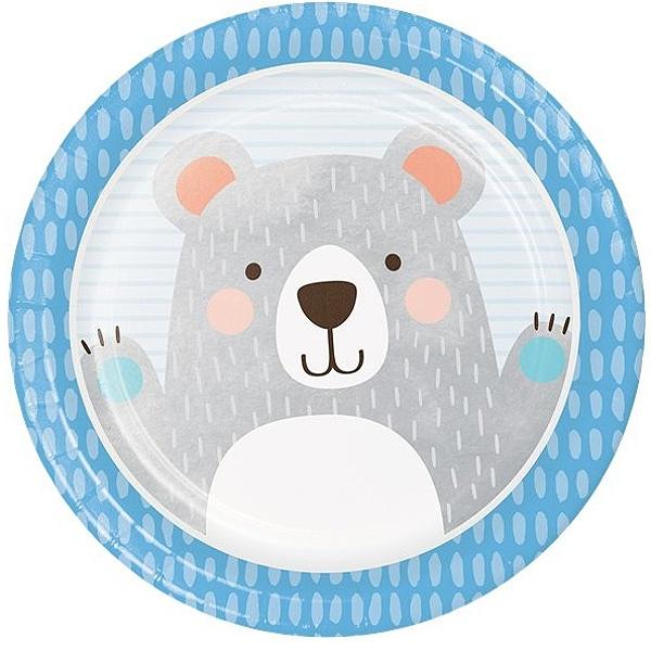 TANIERE papierové Medvedík 23cm 8ks