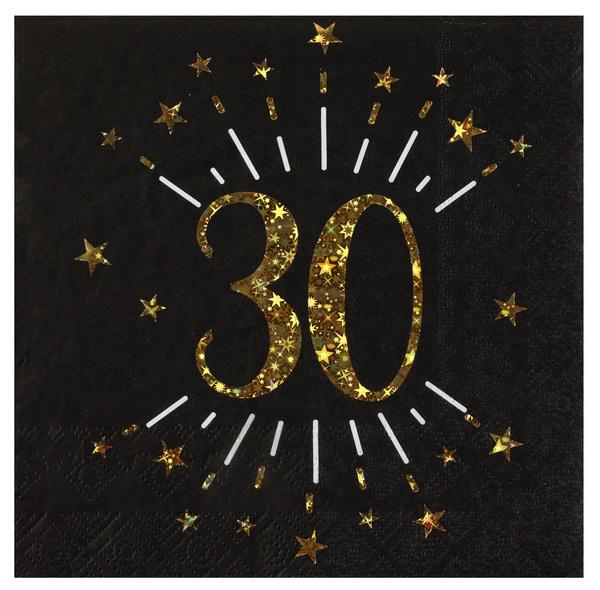 SERVÍTKY 30. narodeniny 10ks
