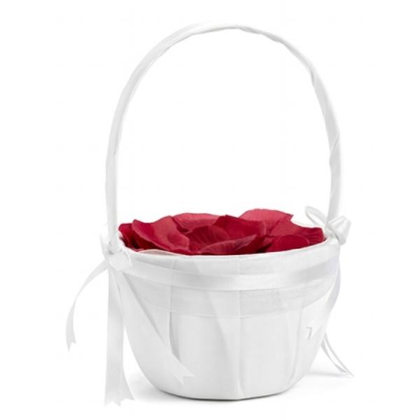 Košíček pre družičku biely