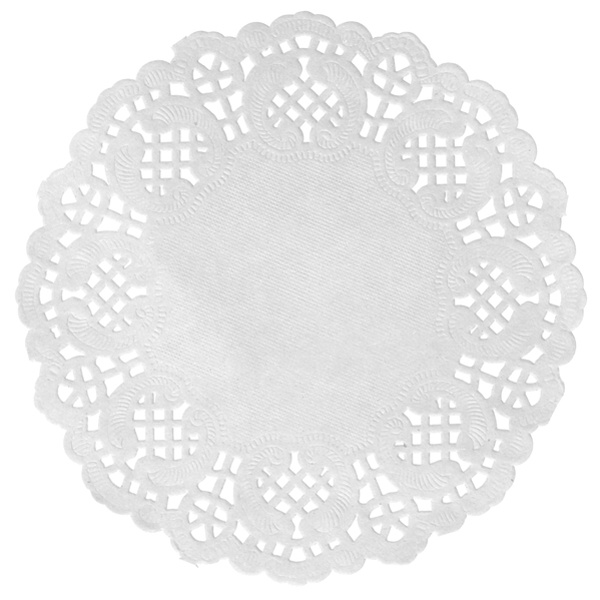 Prestieranie na stôl čipkované biele 10ks