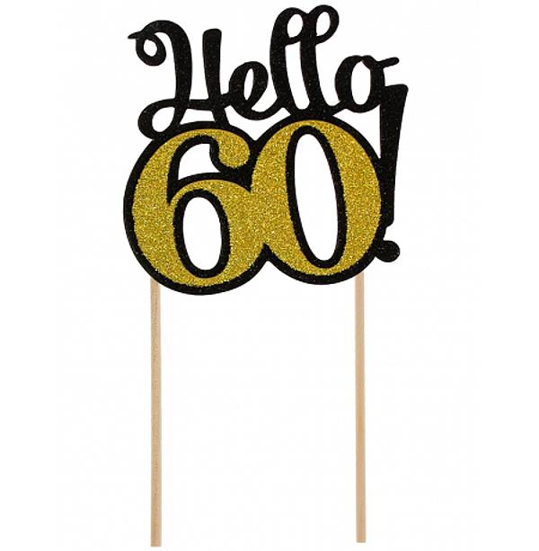 ZÁPICH na tortu 60. narodeniny zlatý
