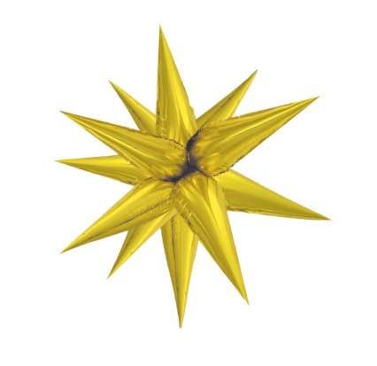 Balón fóliový 3D hviezda zlatá 70cm