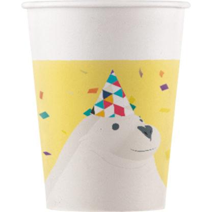 KELÍMKY papierové s tuleňom Arktída 8ks