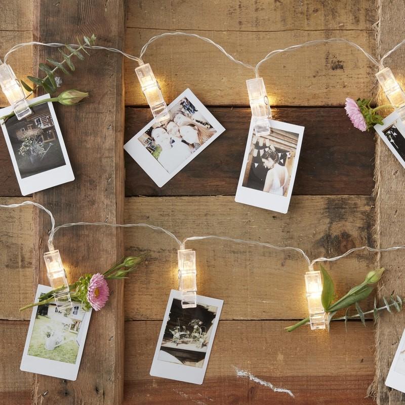 LED svetelná reťaz so štipcami na fotky 1,4m
