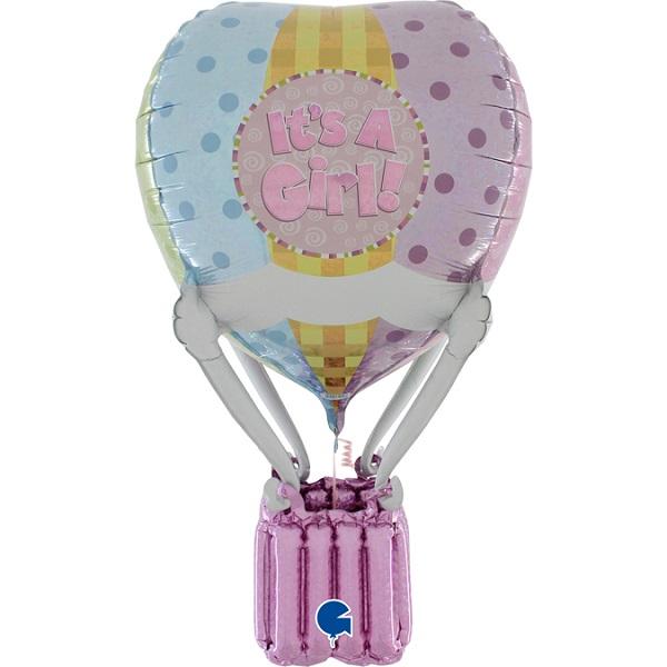 BALÓNIK fóliový 3D Teplovzdušný balón Girl 91cm