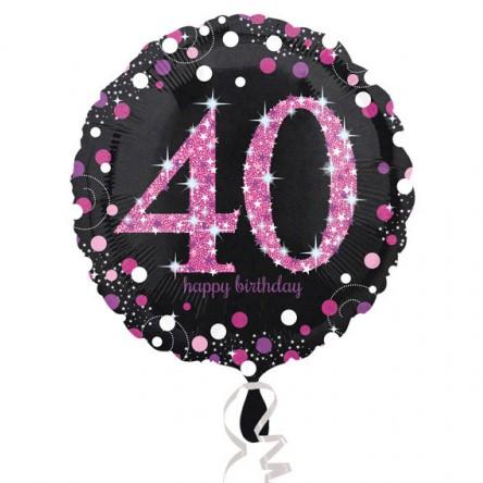 BALÓNIK fóliový 40.narodeniny čiernoružový