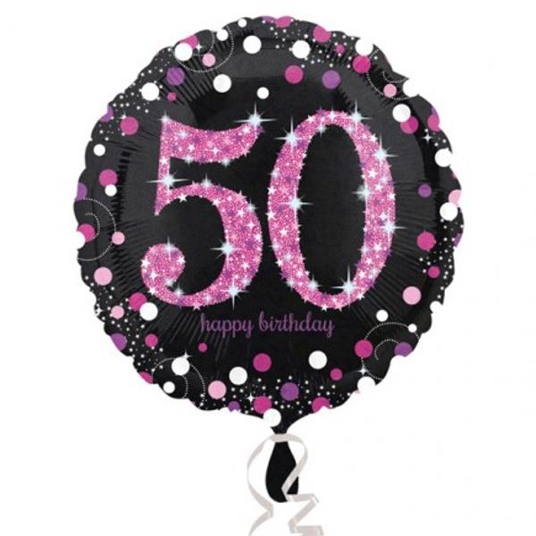 BALÓNIK fóliový 50.narodeniny čiernoružový
