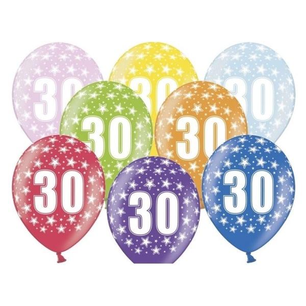 BALÓNIK latexový 30. narodeniny 50ks