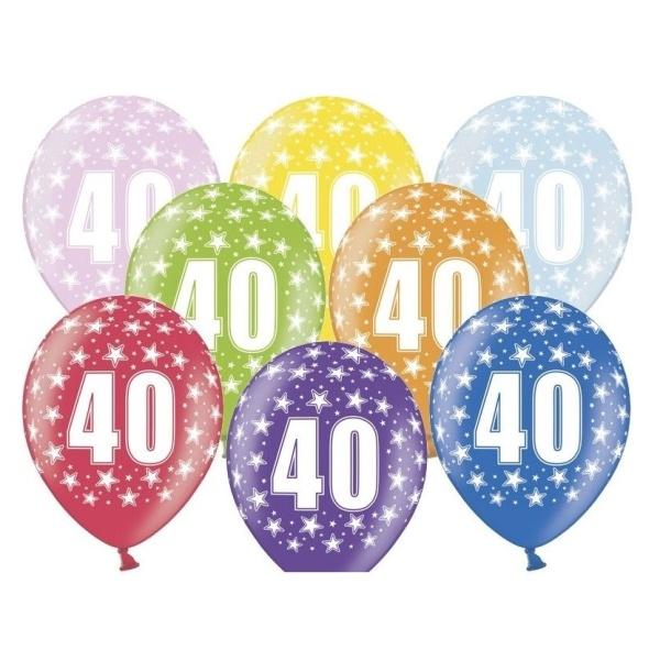 BALÓNIK latexový 40. narodeniny 50ks
