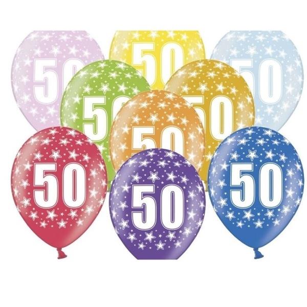 BALÓNIK latexový 50. narodeniny 50ks