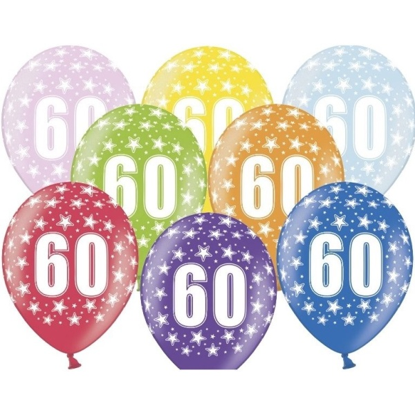 BALÓNIK latexový 60. narodeniny 50ks
