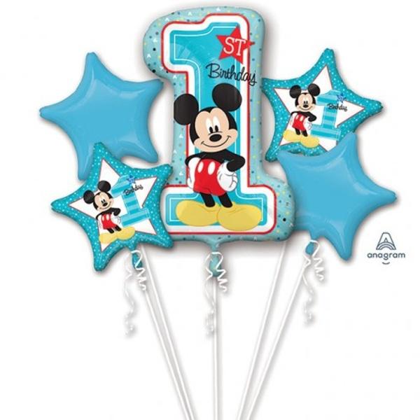 Balónikový buket 1. narodeniny Mickey