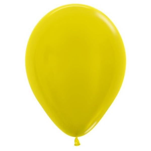 BALÓNIKY SEMPERTEX - metalické žlté 30 cm 50ks