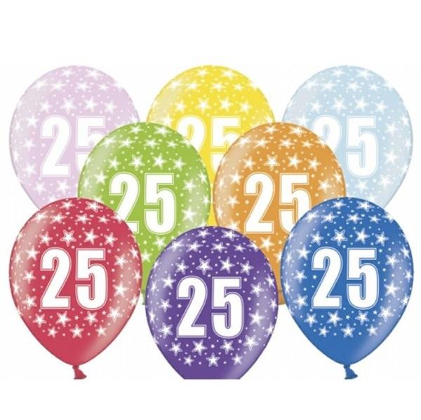 BALÓNIKY latexové 25.narodeniny 50ks