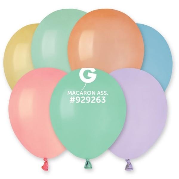BALÓNIKY dekoračné 13cm makronky - mix farieb 100ks