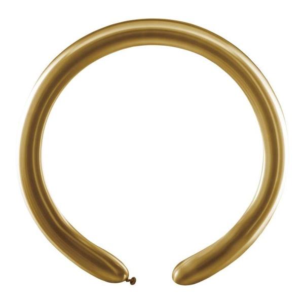 BALÓNIKY modelovacie chrómové zlaté 5cm 100ks