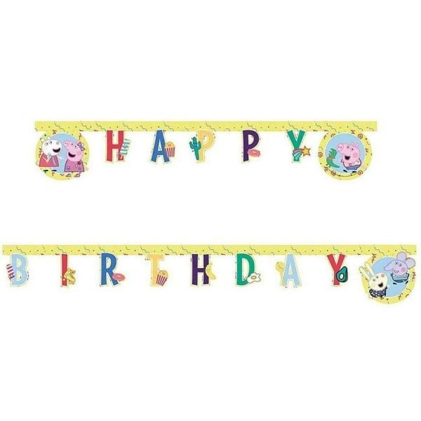 BANNER Happy Birthday Prasiatko Peppa 230cm