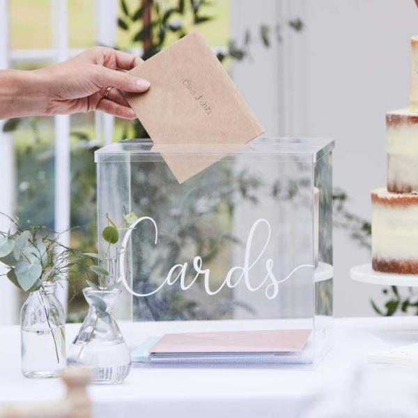 BOX na želanie Cards plastový transparentný