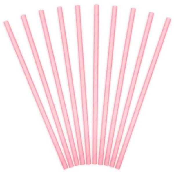 SLAMKY papierové svetlo ružové - mojaparty.sk ce7b6fd1e1f