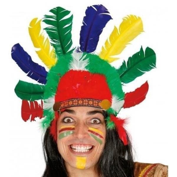 ČELENKA indiánska Náčelník s brkami