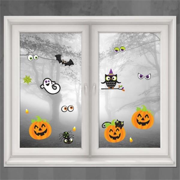 DEKORÁCIE na okno Halloween 15ks