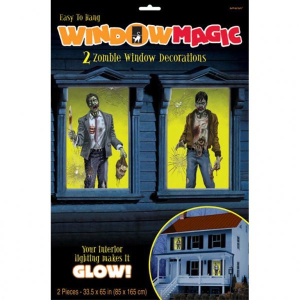 DEKORÁCIA Halloween - Zombie na okno 2ks