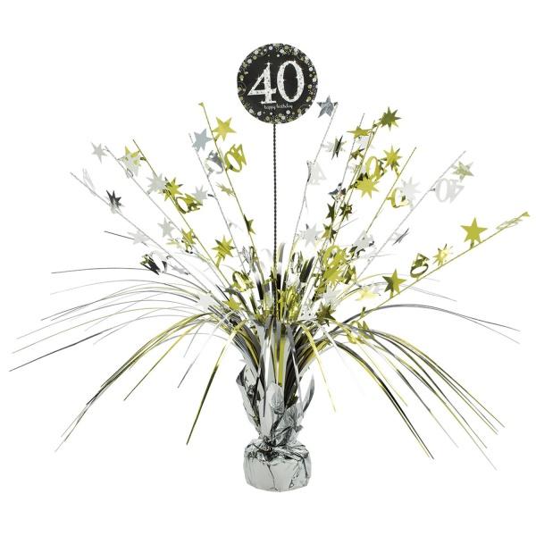 """DEKORÁCIA na stôl fóliová Sparkling """"40"""" 46cm"""