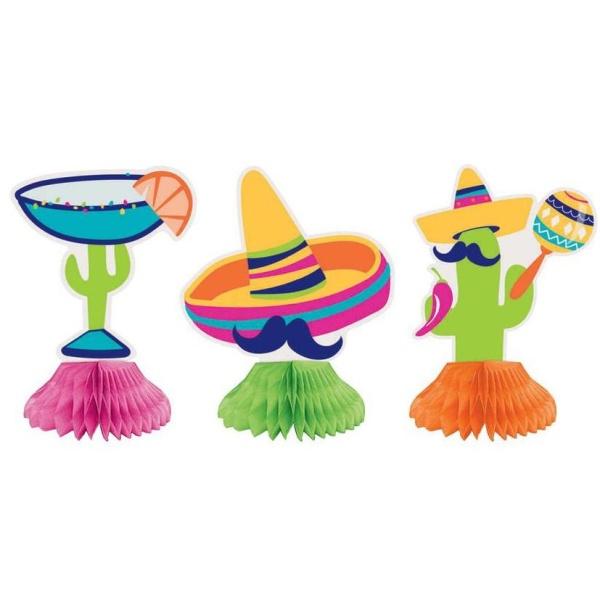 DEKORÁCIA na stôl mini Fiesta 3ks
