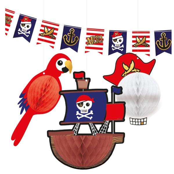 DEKORÁCIA závesná Pirát 4ks