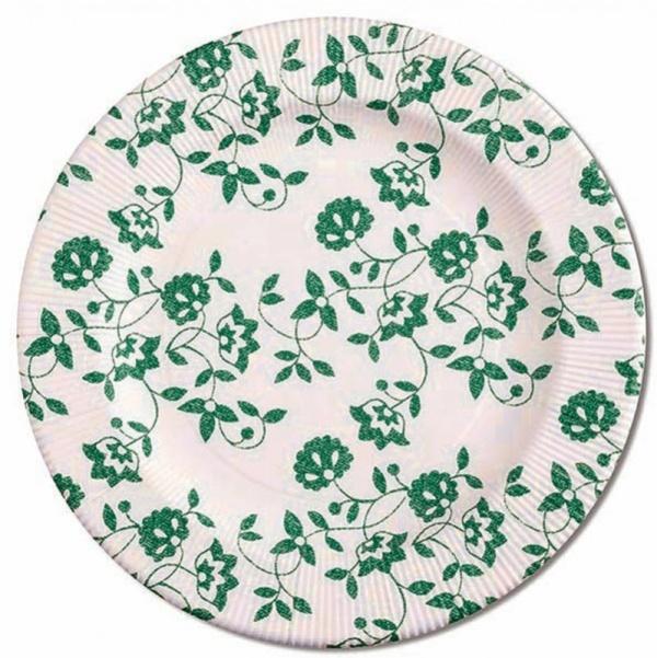 ECO TANIERE papierové Kvety zelené 27cm 8ks