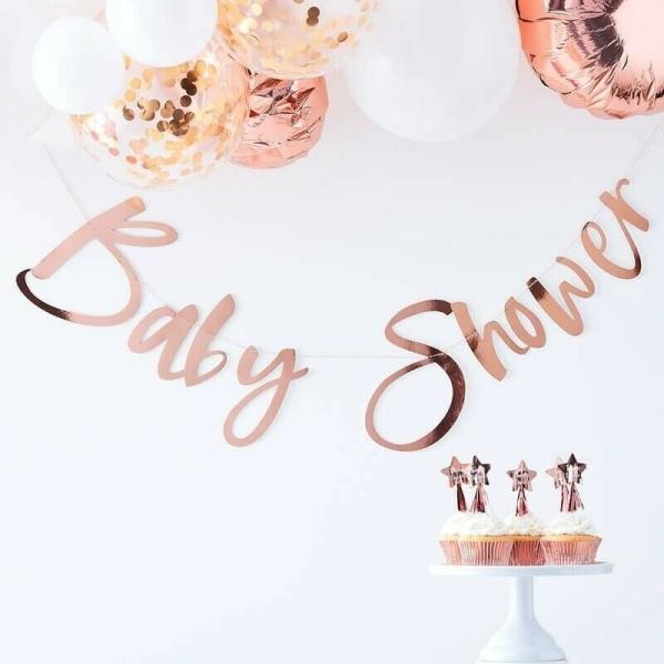 GIRLANDA Baby Shower ružové zlato