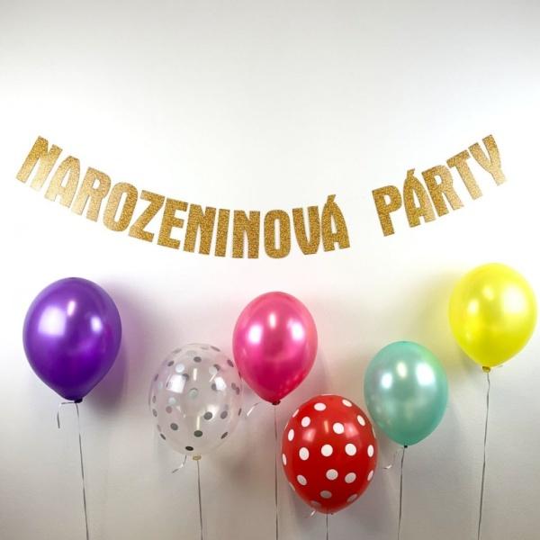 """GIRLANDA """"Narozeninová párty"""" 150 cm"""