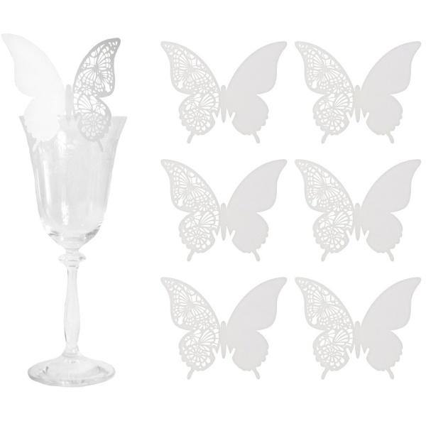MENOVKY na pohárik Motýľ 6ks