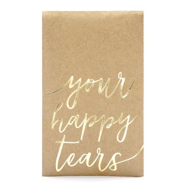 Vreckovky na slzy šťastia Your happy tears 7,5x12cm