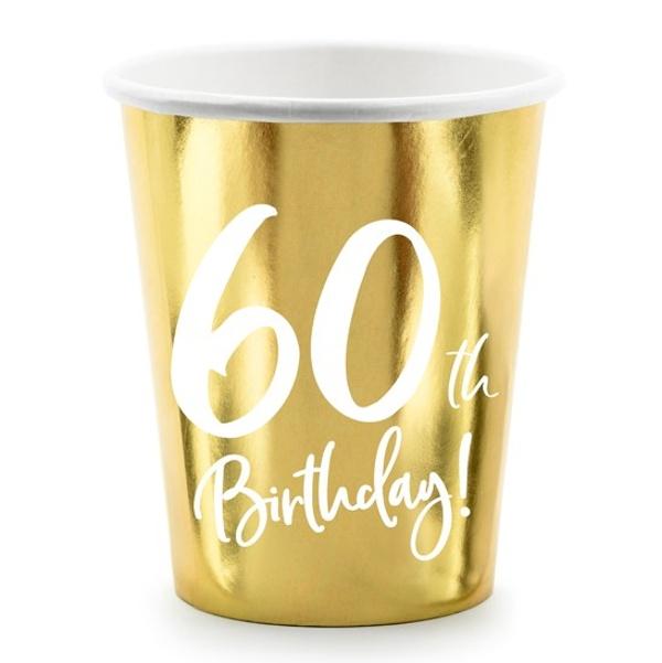 Kelímky 60. narodeniny zlaté 220ml