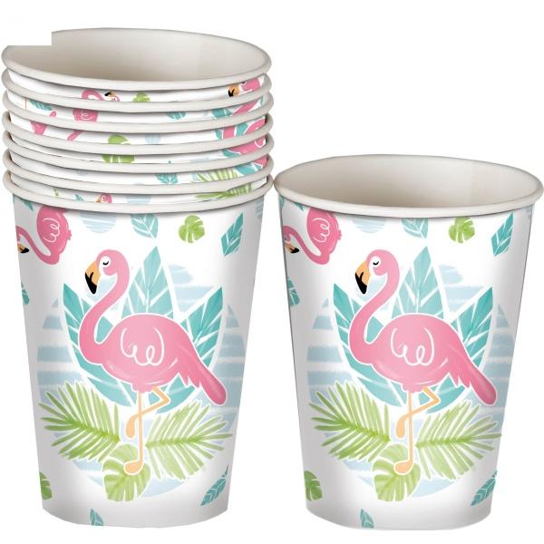 KELÍMKY papierové Flamingo 8ks