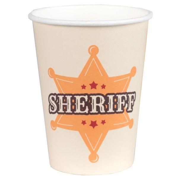 KELÍMKY papierové Sheriff 270ml 10ks