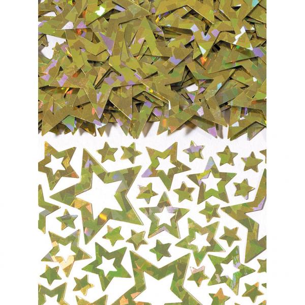 KONFETY na stôl hviezdy zlaté 14 g