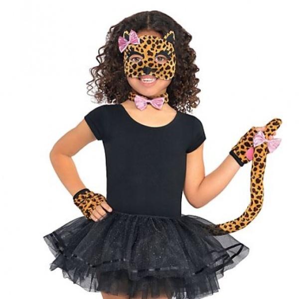 Kostýmové doplnky detské Leopard 5ks