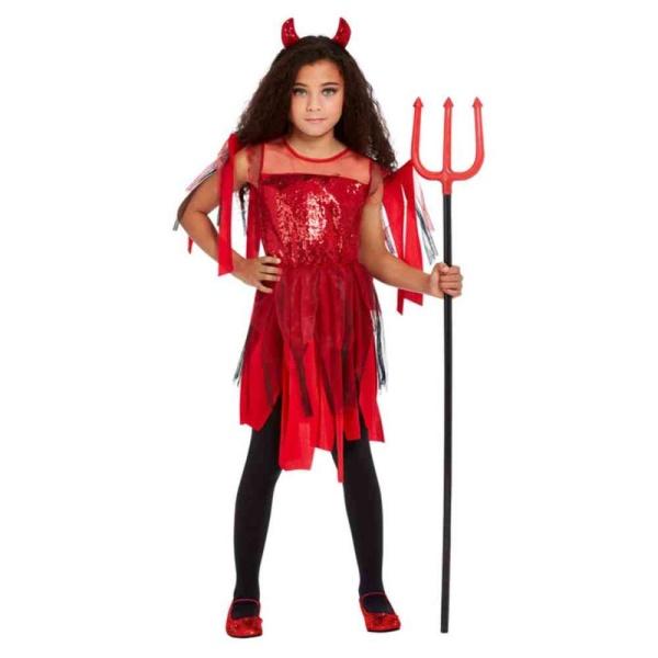 KOSTÝM dievčenský Diablica - veľkosť S