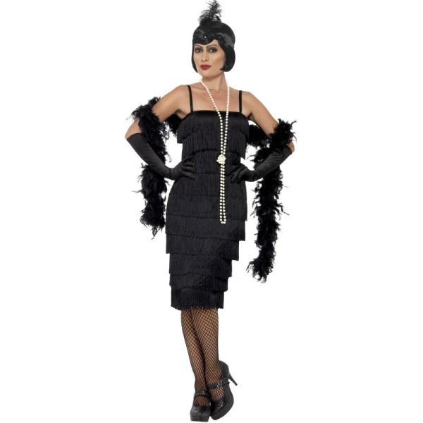 """KOSTÝM šaty čierne, štýl """"Veľký Gatsby"""" M"""