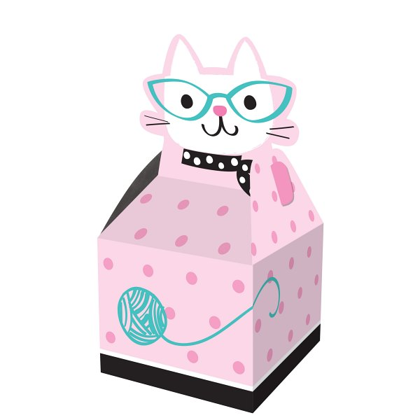 KRABIČKA darčeková Mačička s okuliarmi 23,2x9x9cm 8ks