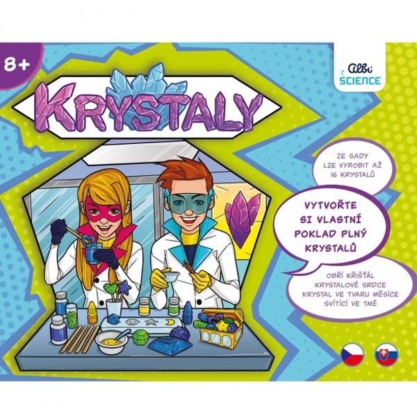 """HRA s českým názvom """"KRYSTALY"""" (KRYŠTÁLY), od Albi Science"""