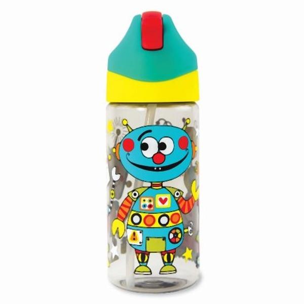 FĽAŠA na pitie so slamkou Roboti 350ml