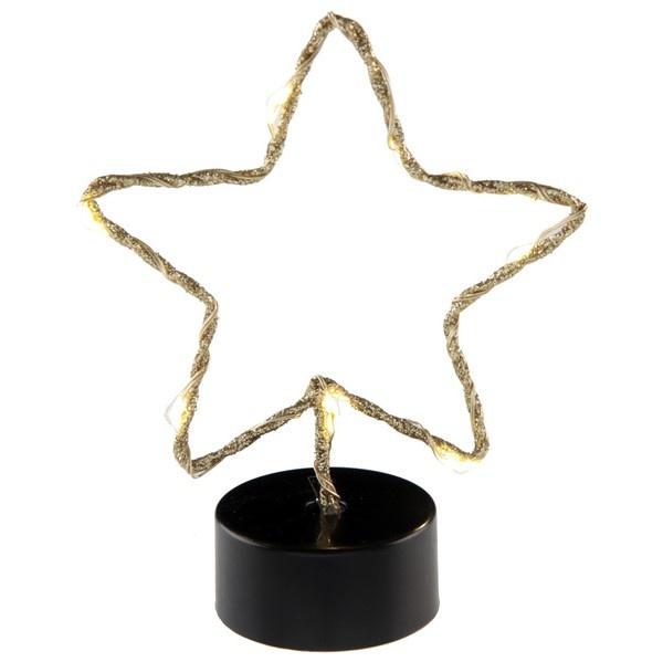 VIANOČNÁ LED svietiaca hviezda zlatá